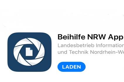 Beihilfe beantragen per APP in NRW - BeamtenService